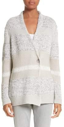 Fabiana Filippi Stripe Metallic Knit Cardigan