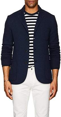 Barneys New York MEN'S CASHMERE SPORTCOAT CARDIGAN - BLUE SIZE XL