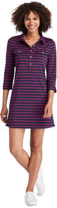 Vineyard Vines Break Stripe UPF Shirt Dress