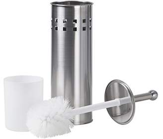 Richard's Homewares Richards Homewares Toilet Brush with Holder – Vented Bathroom Cleaning Brush with Matching Stand – Satin Nickel