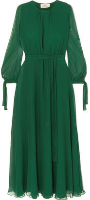 ARoss Girl x Soler - Amanda Silk-georgette Maxi Dress - Green