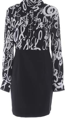 Love Moschino Music Notes Printed Dress