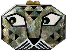 Rafe Animalia Leopard Octagon Minaudiere
