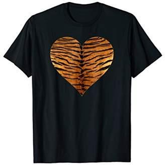 Tiger Animal Heart Print TShirt - I Love Tigers