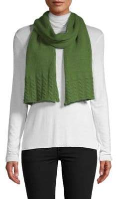 Portolano Cable Knit Wool & Cashmere Scarf