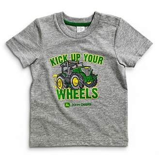 John Deere Heather Kick Up Your Wheels Infant T-shirt 18 Month