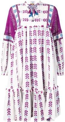 Dodo Bar Or crochet panel dress