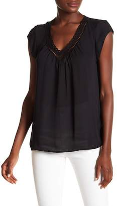 Daniel Rainn DR2 by Scallop Crochet Trim Blouse