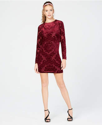 B. Darlin Juniors' Velvet Bodycon Dress