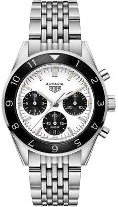 Tag Heuer Steel Autavia Automatic Chronograph Watch 42mm