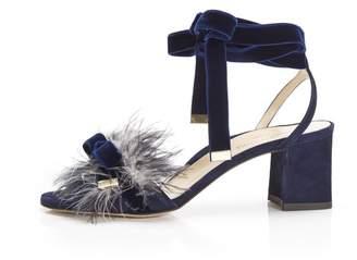 Marion Parke Babette | Feather Block Heel Sandal