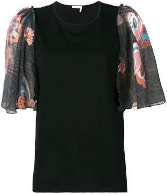 See by Chloe butterfly sleeve T-shirt