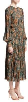 Johanna Ortiz Silk Hechiceria Peasant Dress