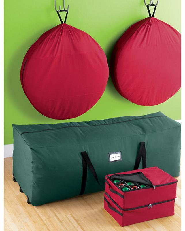 Container Store 2-Tray Ornament Storage Case Red