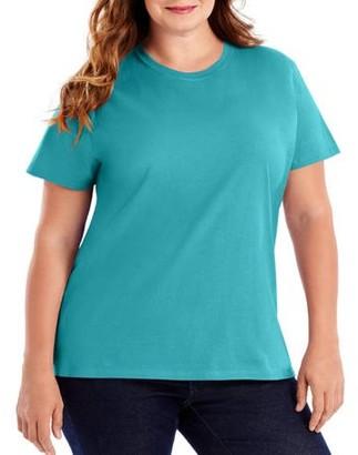Hanes Women's Plus Size Lightweight Short Sleeve T-shirt