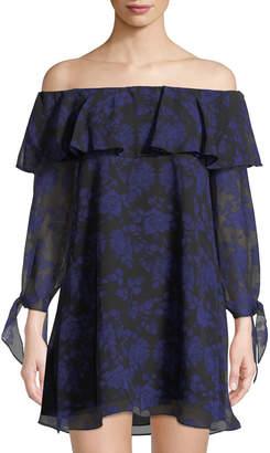 cc8e03c9ff9 Sam Edelman Off-The-Shoulder Floral Mini Dress
