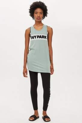 Ivy Park Sheer Flock Logo Tank Top