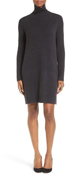 Women's Nordstrom Collection Wool & Cashmere Blend Side Zip Sweater Dress