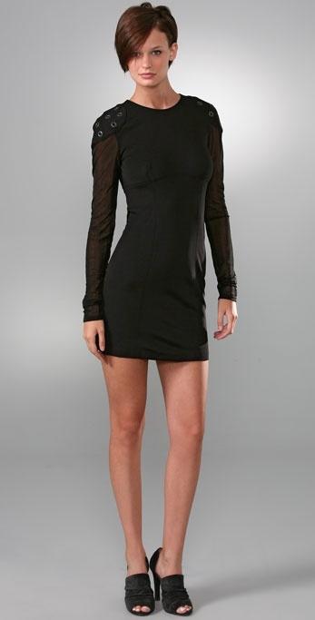 Alexander Wang Slim Grommet Dress