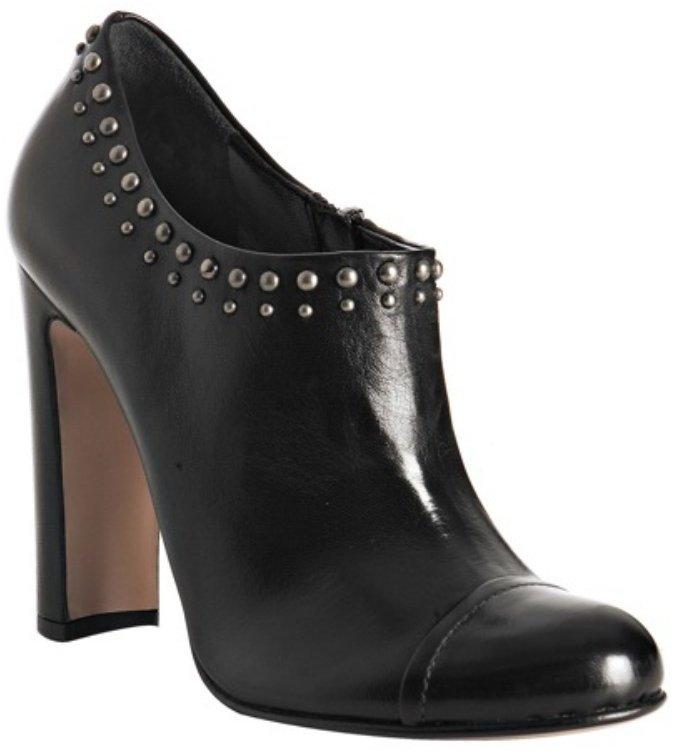 Prada black nappa studded booties