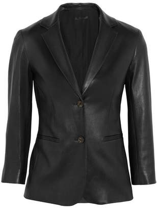 The Row Nolbon Leather Blazer - Black