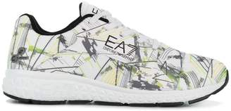 Emporio Armani Ea7 printed lace-up sneakers
