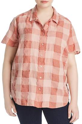 Lucky Brand Plus Plaid Button Down Shirt