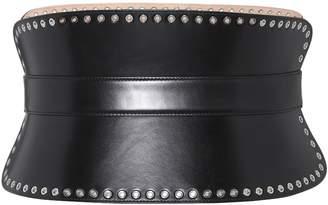 Alexander McQueen Studded leather corset belt