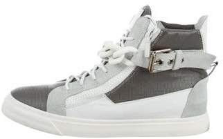 Giuseppe Zanotti Chain-Link Leather Sneakers