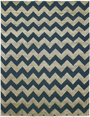 Jonathan Adler For Kravet Denim Jagged Area Rug