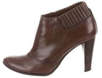 CNC Costume National Round-Toe Leather Booties