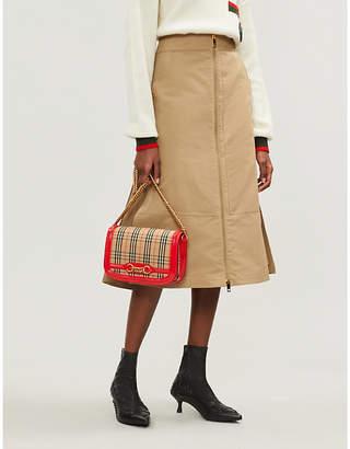 Burberry Beige Lagan Cotton and Silk Blend Skirt