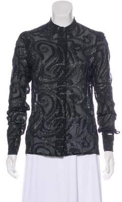 Stella McCartney Embellished Long Sleeve Blouse