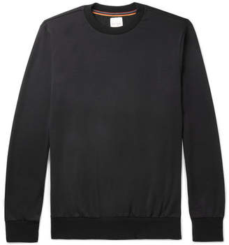 Paul Smith Stripe-Trimmed Wool-Jersey Sweatshirt