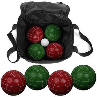 One Kings Lane 9-Piece Bocce Ball Set - Green/Red