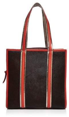 Sophie Cano Sophia Cano Printed Shearling & Leather Tote