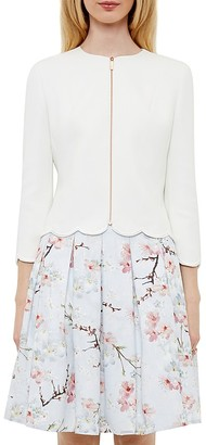 Ted Baker Heraly Scalloped-Edge Jacket $349 thestylecure.com