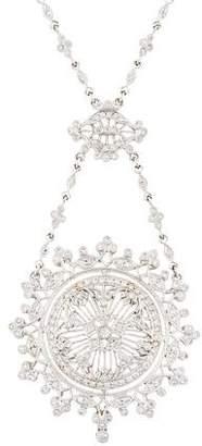 18K Diamond Filigree Pendant Necklace