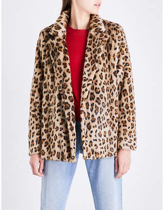 Theory Clairene leopard-pattern faux-fur jacket