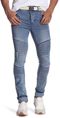 nANA jUDY Biker Knee Moto Jeans