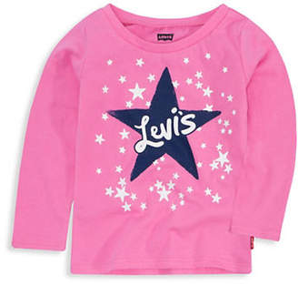 Levi's Baby Girl's Graphic Cotton Jersey Top