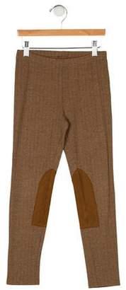 Ralph Lauren Girls' Herringbone Knit Leggings