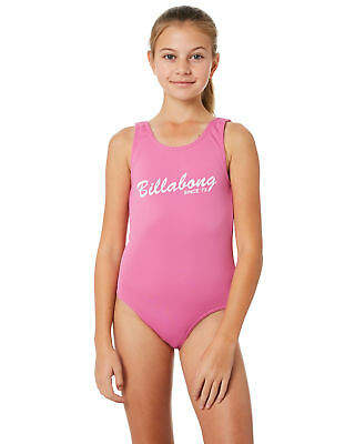 Billabong New Girls Sunshine One Piece Polyester Elastane Pink