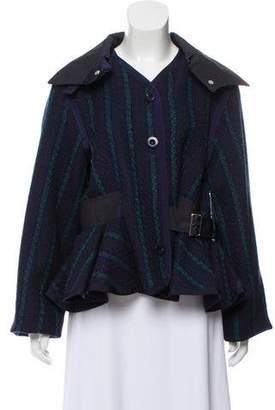 Sacai Luck Bouclé Striped Jacket