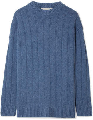 The Row Lilla Ribbed Cashmere Sweater - Blue
