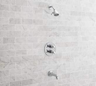 Pottery Barn Victoria Thermostatic Cross-Handle Bathtub & Shower Faucet Set