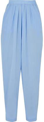 Albus Lumen - Chico High-rise Cotton-gauze Pants - Blue