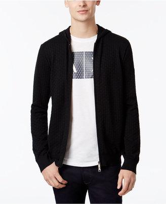 Armani Exchange Men's Basket-Weave Zip-Up Sweater $110 thestylecure.com