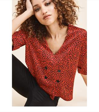 Dynamite Blazer Blouse - FINAL SALE POMPEIAN RED