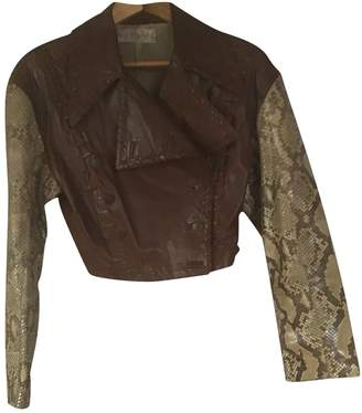 Martine Sitbon Brown Python Leather Jacket for Women Vintage